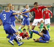 Hungary vs. San Marino 8-0 Royalty Free Stock Image