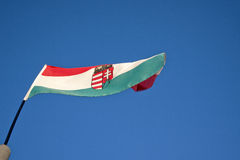 Hungary waving flag Royalty Free Stock Images