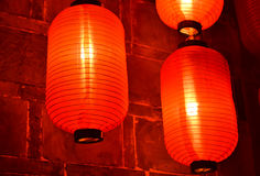hunged lanterns stock photography