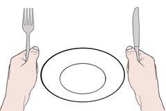 hunger stock illustrationer
