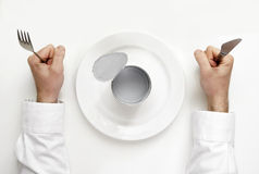 Hunger concept. Royalty Free Stock Photography
