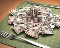 Hunger für Geld Stockbild