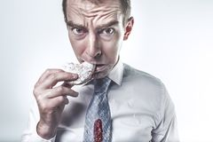 Hunger, Hungry, Eating, Cookie Royalty Free Stock Photos
