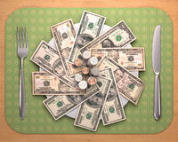 Hunger For Money Royalty Free Stock Images