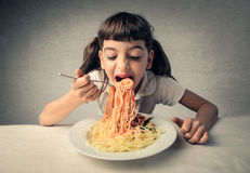 Hunger for pasta Royalty Free Stock Image