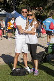 Hunger Run (Rome) - WFP - A couple posing Stock Photo