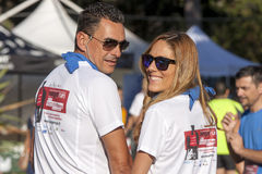 Hunger Run (Rome) - WFP - A couple posing Royalty Free Stock Photos
