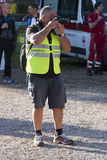 Hunger Run (Rome) - WFP - Photographer with reflex Royalty Free Stock Images