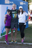 Hunger Run (Rome) - WFP - Three people runners posing Royalty Free Stock Photography