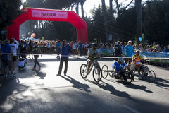 Hunger Run (Rome) - World Food Program - Disabled starting line Royalty Free Stock Photography