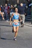 Hunger Run (Rome) - World Food Program - Runner woman. The HUNGER RUN – a 10k competitive race and a 5k fun run/walk - 19 October 2014 – meeting at 8:30 a.m Stock Photography