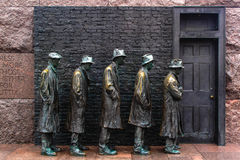 Hunger Sculpture of Breadline, Roosevelt memorial Stock Photography