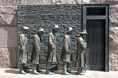 Hunger sculpture of Franklin Roosevelt Memorial Royalty Free Stock Photography