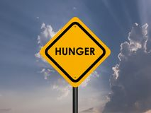 Hunger signs Royalty Free Stock Photography