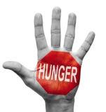 Hunger - stoppa begreppet. Royaltyfri Foto