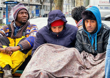 Hunger strike of refugees Royalty Free Stock Photography