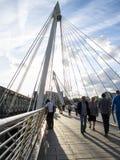 Hungerford桥梁 库存图片