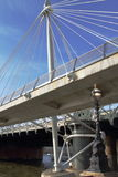Hungerford και χρυσές γέφυρες ιωβηλαίου - Λονδίνο - UK Στοκ φωτογραφία με δικαίωμα ελεύθερης χρήσης
