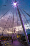 On the hungerford bridge Stock Photo