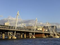 Hungerford bridge in London Stock Images
