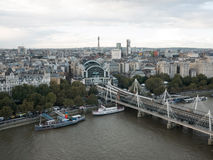 Hungerford bridge and London city Royalty Free Stock Photo