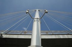 Hungerford bridge in London Stock Photography