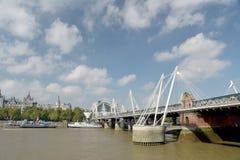 Hungerford Bridge over River Thame Stock Photos