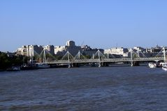 The Hungerford Bridge over River Thames in London, England, Europe Royalty Free Stock Photography