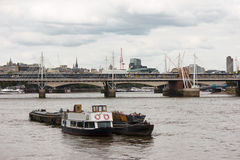 Hungerford Bridge, River Thames , London Royalty Free Stock Images