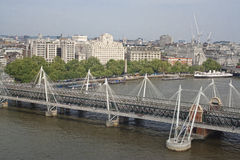 Hungerford Bridge Royalty Free Stock Photos