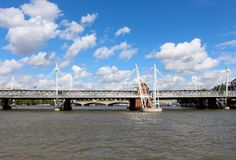 Hungerford Bridges, London Stock Image