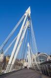 Hungerford bro i London Arkivfoto