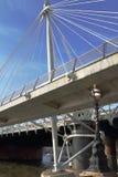 Hungerford e ponti dorati di giubileo - Londra - il Regno Unito fotografia stock libera da diritti