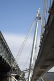 Hungerford and Goldern Jubilee Bridges, London Royalty Free Stock Photography