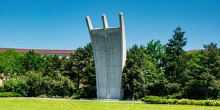 Hungerharke symbolic aerial bridge memorial in Berlin stock image