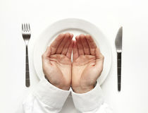 Hungerkonzept. Stockfotografie