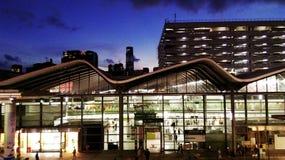 Hunghom Railway Station, HK. Beautiful Sunset in Hong Kong Stock Photos