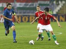 Hungría contra euro de la UEFA de Moldova 2012 juegos de calificación foto de archivo