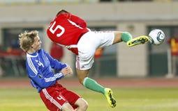 Hungría contra Liechtenstein (5: 0) Imágenes de archivo libres de regalías