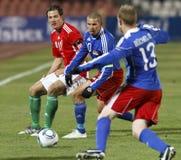 Hungría contra Liechtenstein (5: 0) foto de archivo