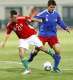 Hungría contra Liechtenstein (5: 0) Fotos de archivo