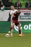 Hungría contra Países Bajos Partido de fútbol amistoso de Rusia Foto de archivo libre de regalías