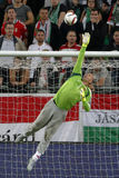 Hungría contra Países Bajos Partido 2016 de fútbol del calificador del euro de la UEFA de Rumania Fotos de archivo