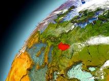 Hungría de la órbita de Earth modelo Imágenes de archivo libres de regalías