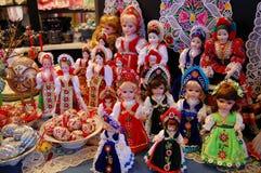 Hungría - marionetas coloridas Imágenes de archivo libres de regalías