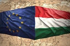 Hungría y unión europea ilustración del vector