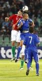 Hungría contra San Marino 8-0 Fotografía de archivo libre de regalías
