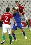 Hungría contra San Marino 8-0 Imágenes de archivo libres de regalías