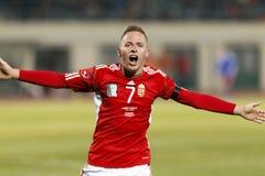 Hungria contra Liechtenstein (5: 0) Fotos de Stock Royalty Free