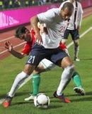 Hungria contra Noruega (0: ) jogo de futebol 2 amigável Imagem de Stock Royalty Free